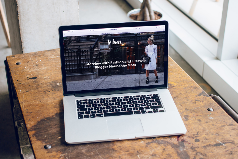 Example of a fashion landing page