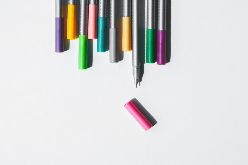 Pens colours creative work agency