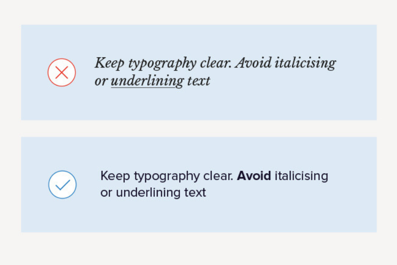 Keep typography clear and concise in accessible design