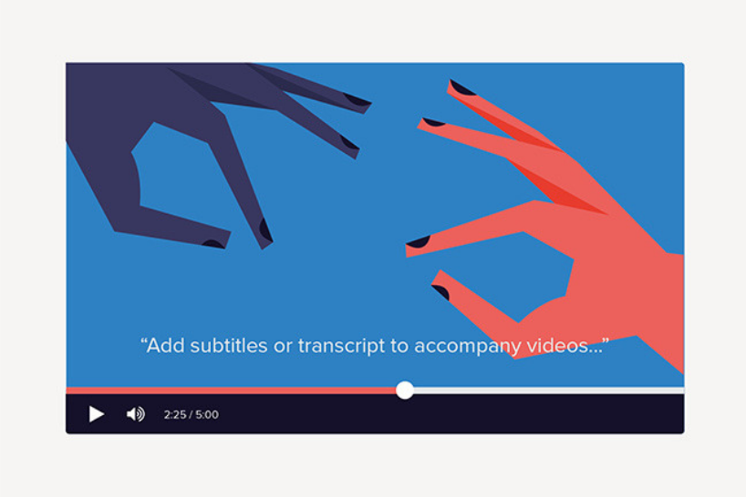 Subtitles to go alongside videos