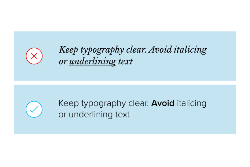 Design tips for accessibility