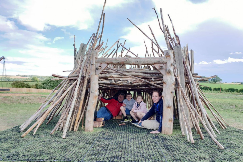 Family built den at William's Den