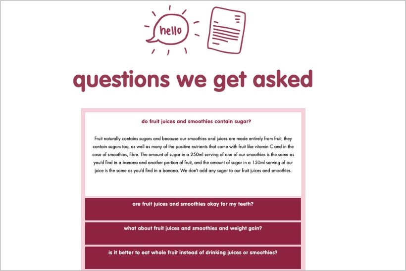 Innocent-smoothies-FAQ-page