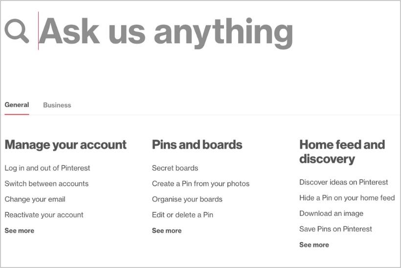 Pinterest-FAQ-page
