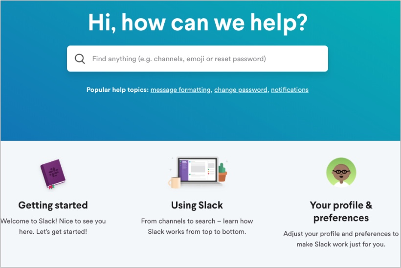 Slack-FAQ-page