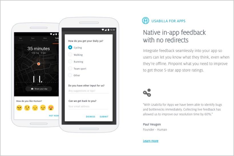 Usabilla-feedback-tool