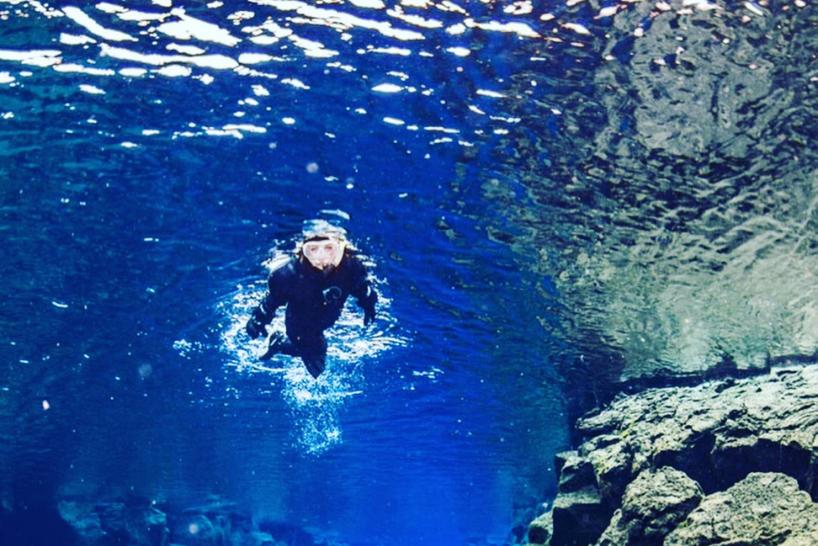 Emma scuba-diving
